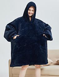 cheap -Adults' Kigurumi Pajamas Bathrobe Unicorn Flying Horse Onesie Pajamas Flannel Fabric Ink Blue Cosplay For Men and Women Animal Sleepwear Cartoon Festival / Holiday Costumes / Bath Robe
