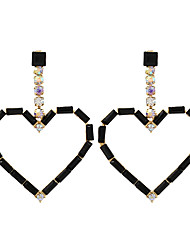 cheap -Women's Drop Earrings Earrings Dangle Earrings Heart Sweet Heart Statement Bohemian Sweet Cute Imitation Diamond Earrings Jewelry White / Black / Red For Gift Prom Date Promise Festival
