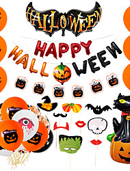 cheap -Party Balloons 46 pcs Pumpkin Spiders Bat Photo Booth Props Party Supplies Latex Balloons Boys and Girls Party Decoration 10-18inch for Party Favors Supplies or Home Decoration