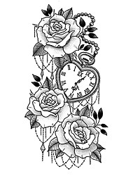 cheap -1 pcs tattoo designs Temporary Tattoos Waterproof tattoo stickers small full-arm wolf head tiger head flowers men and women tattoos