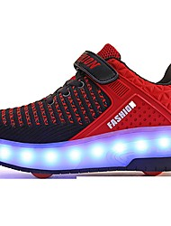 cheap -Boys' / Girls' Trainers / Athletic Shoes USB Charging / Luminous Fiber Optic Shoes / Halloween Rubber / Synthetics Glitter Crystal Sequined Jeweled Big Kids(7years +) Walking Shoes Sequin / Luminous