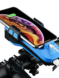 cheap -Dual LED Bike Light Adjustable Stand Bike Horn Light Headlight Bicycle Cycling Waterproof Anti-Shock USB Charging Output Anti-skidding Li-polymer Rechargeable Lithium-ion Battery 100 lm Cold White