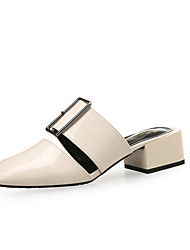 cheap -Women's Clogs & Mules Spring Fall Pumps Square Toe Office & Career Home Patent Leather White / Black / Green