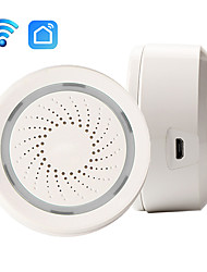 cheap -Smart Wireless WiFi Siren Alarm Sensor USB Power Via iOS Android APP Notification Plug And Play No HUB Requirement