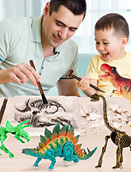 cheap -Dinosaur Fossil Model Toy Dinosaur Fossil Dig Kit Vintage DIY Simulation Assembly Gypsum ABS 1+10 pcs Kid's Teen Triceratops Tyrannosaurus Rex Party Favors, Science Gift Education Toys for Kids and