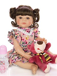 cheap -KEIUMI 22 inch Reborn Doll Baby & Toddler Toy Reborn Toddler Doll Baby Girl Gift Cute Washable Lovely Parent-Child Interaction Full Body Silicone 22D01-C380-H21-T17 with Clothes and Accessories for