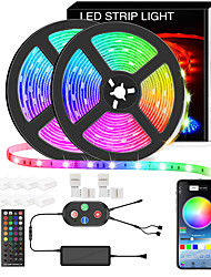 cheap -5050 Led Strip Lights 10M Smart RGB Led Light Strip Music Sync 600LEDs Color Changing Light Strips Bluetooth APP Control with Remote for Bedroom Room TV Party Bedroom Room TV Backlight PC Desk Kitchen