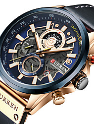 cheap -CURREN Men's Sport Watch Analog Quartz Formal Style Outdoor Altimeter Calendar / date / day Chronograph / PU Leather