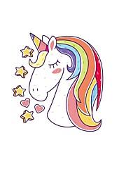billige -regnbue unicorn vægklistermærker dekorative vægklistermærker, pvc boligdekoration vægoverføringsbillede vægdekoration / aftagelig