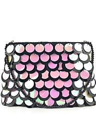 cheap -Women's Bags Silk Evening Bag Sequin Wedding Bags Party Event / Party Black Gold Silver