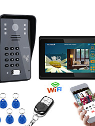 cheap -MOUNTAINONE 7inch Wired / Wireless Wifi RFID  Video Door Phone Doorbell Intercom Entry System With 1000TVL Wired Camera Night VisionSupport Remote APP UnlockingRecordingSnapshot