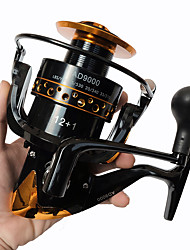 cheap -Fishing Reel Spinning Reel 5.2/1 Gear Ratio, 12+1 Ball Bearings Spinning / Lure Fishing