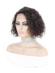 cheap -Remy Human Hair L Part Wig Side Part style Brazilian Hair Curly Natural Wig 150% Density For Black Women 100% Virgin Women's Long Human Hair Lace Wig