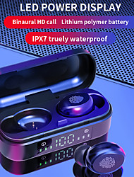 cheap -V8  True wireless wireless Bluetooth headset fingerprint touch one-click siri smart headset hifi stereo LED screen display mini portable can be on the plane