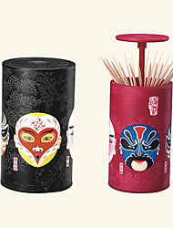 cheap -Toothpick Box Chinese Peking Opera Automatic Cans Household Storage