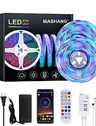 cheap -MASHANG 32.8ft 10M Bright RGBW LED Strip Lights Music Sync Smart LED Tiktok Lights 2340LEDs SMD 2835 Color Changing with 24 keys Remote Bluetooth Controller for Home Bedroom TV Back Lights DIY Deco