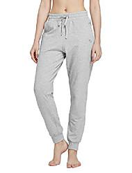 cheap -women's active yoga fleece lined joggers warm sweats pants workout thermal sweatpants side pockets spacedye red s