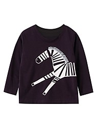 cheap -Kids Boys' Basic Horse Animal Print Long Sleeve Tee Black