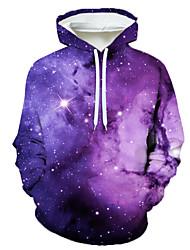 cheap -Men's Holiday Hoodie Graphic Star Hooded Casual Hoodies Sweatshirts  Rainbow