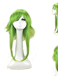 cheap -Cosplay Costume Wig Synthetic Wig Cosplay Wig Gumi Vocaloid Straight Cosplay Layered Haircut Wig Medium Length Blue Green Lake Green / Grass Green Mint Green Synthetic Hair 18 inch Women's Cosplay