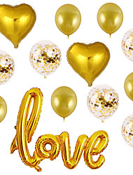cheap -Party Balloons 13 pcs Heart Love Party Supplies Latex Balloons Boys and Girls Party Wedding Decoration 12-18inch for Party Favors Supplies or Home Decoration
