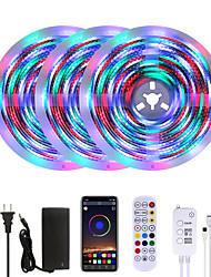 cheap -MASHANG Bright RGBW LED Strip Lights Waterproof 15M Music Sync Smart LED Tiktok Lights 3510LEDs 2835 Color Changing with 24 keys Remote Bluetooth Controller for Home Bedroom TV Back Lights DIY Deco