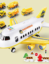cheap -Construction Truck Toys Pull Back Car / Inertia Car Pull Back Vehicle Airplane Police car Dozer Excavator Simulation Drop-resistant Alloy Mini Car Vehicles Toys for Party Favor or Kids Birthday Gift
