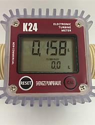 Недорогие -K24 Turbo цифровой расходомер расходомер дизельного топлива воды Plomeria расходомер переносной турбинный расходомер каудалиметро датчик