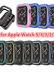 cheap -Silicone Case for Apple Watch Series 5 4 3 2 1 Case Protector Ultra-Thin Anti-Scratch Flexible Soft Protective Bumper Cover for New Apple Watch Series