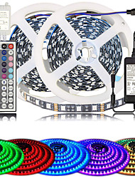 cheap -ZDM High-Quality Black PCB 10M(2*5M) Color Changing 5050 Flexible LED Rope Lighting LED Strip Lights Kit with 44 Keys IR Remote Controller and Power Supply for Bedroom Room Home Kitchen