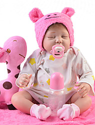 cheap -Reborn Baby Dolls Clothes Reborn Doll Accesories Cotton Fabric for 22-24 Inch Reborn Doll Not Include Reborn Doll Star Soft Pure Handmade Girls' 4 pcs