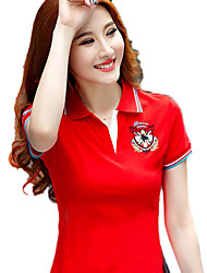 cheap -Women's Golf Polo Shirts Short Sleeve Breathable Quick Dry Soft Athleisure Outdoor Summer Cotton Yellow Red Royal Blue / Micro-elastic
