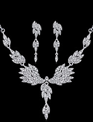 cheap -Women's Bridal Jewelry Sets Earrings Jewelry Silver For Wedding Party Daily Carnival Festival 1 set