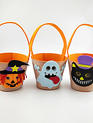 cheap -Halloween Party Toys Halloween Gift Bags Trick or Treat Halloween Candy Buckets 6 pcs Cat Ghost Cartoon with Handles Non-woven Fabrics Kid's Adults Trick or Treat Halloween Party Favors Supplies