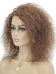 cheap -Remy Human Hair Wig Short Jerry Curl Pixie Cut Auburn Thick Capless Brazilian Hair Women's Medium Auburn#30 12 inch