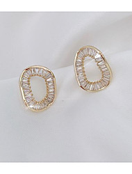 cheap -Women's Earrings Classic Love Classic Vintage Imitation Diamond Earrings Jewelry White and Sliver For Gift Daily 1 Pair