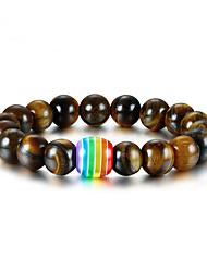 cheap -Resin Bead Bracelet Beads Fashion Fashion Resin Bracelet Jewelry Brown For Anniversary Festival