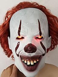 Недорогие -Латекс Маски Страшный костюм Вдохновлен Pennywise Это Белый LED Halloween Хэллоуин Подростки Взрослые Муж. Жен.