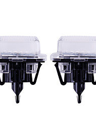 cheap -2Pcs Error Free 18MD LED Number License Plate Light Kit For Mercedes W204 W212 C207 C216 W221 car styling Car accessories