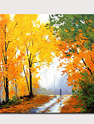 cheap -Mintura Large Size Hand Painted Abstract Tree Landscape Oil Painting on Canvas Modern Pop Art Wall Pictures For Home Decoration No Framed
