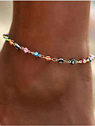 cheap -Anklet Elegant Bohemian Vintage Women's Body Jewelry For Anniversary Party Evening Retro Alloy Evil Eye Gold Silver