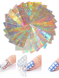 cheap -24 pcs Foil Sticker Creative nail art Manicure Pedicure Multi Function / Color Gradient Trendy / Fashion Party / Evening / Daily