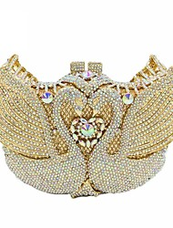 cheap -Women's Bags PU Leather Evening Bag Crystals / Beading for Event / Party Black / Almond / Blushing Pink / Wedding Bags