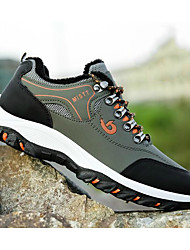 cheap -Men's Comfort Shoes Winter Sporty / Casual Athletic Daily Outdoor Trainers / Athletic Shoes Hiking Shoes PU Breathable Non-slipping Wear Proof Black / Yellow / Light Green Color Block