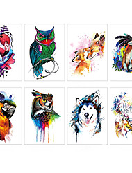 cheap -LITBest 6 Sheets Randomly Temporary Tattoos Half Arm Tattoo Sleeves Animals For Men Body Armband Soldier Fake Tatoo Stickers TH313-TH320