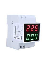 cheap -Digital Din-Rail LED Voltage Ammeter Current Meter Voltmeter AC80-300V 0.2-99.9A Dual Display
