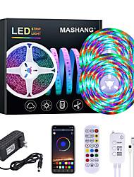 cheap -MASHANG 32.8ft 10M RGB LED Strip Lights Waterproof Music Sync Smart LED Tiktok Lights 540LEDs 2835 Color Changing with 24 keys Remote Bluetooth Controller for Home Bedroom TV Back Lights DIY Deco