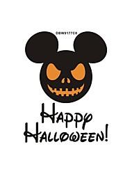 billige -halloween vægklistermærker dekorative vægklistermærker, pvc boligdekoration vægoverføringsbillede vægdekoration / aftagelig