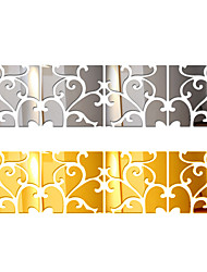 cheap -4PCS Acrylic 3d Wall Sticker Diy Stickers Large Plane Tv Backdrop Decorative Painting Mirror Europe