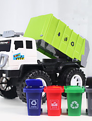 cheap -Vehicle Playset Construction Truck Toys Engineering Vehicle Sanitation Vehicle Rubbish Truck Simulation Drop-resistant Plastic Mini Car Vehicles Toys for Party Favor or Kids Birthday Gift with 4